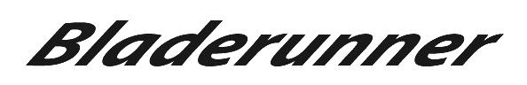 Bladerunner Logo White