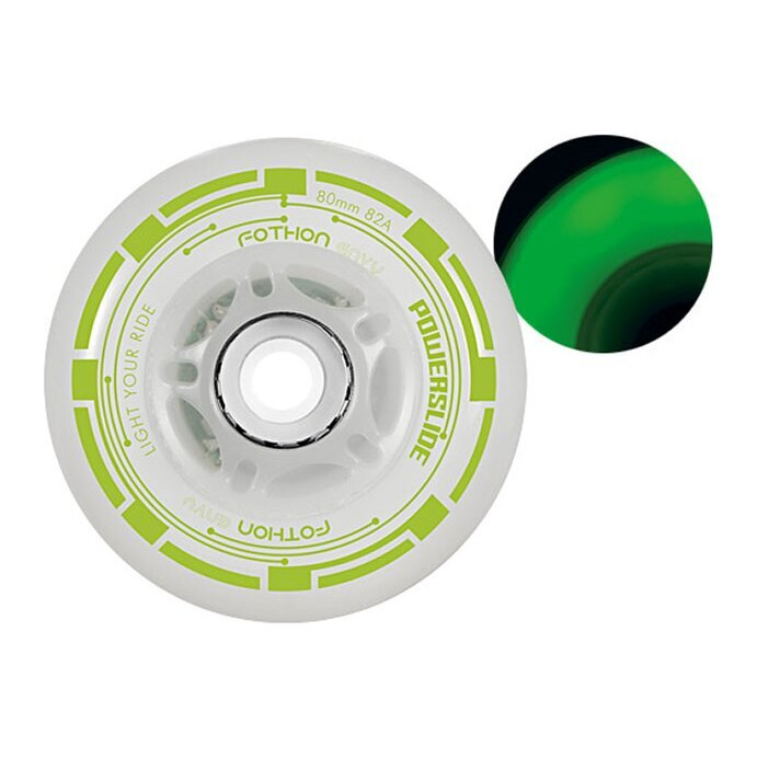 Колеса Powerslide Fothon Envy, Green Led, 4-Pack 76 Мм 2016